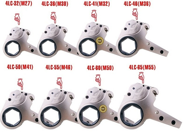 Co le thuy luc, co le thuy luc dang trong 489 - 5392 N.m, Low Profile Hydraulic Torque Wrench, http://thegioithuyluc.com.vn