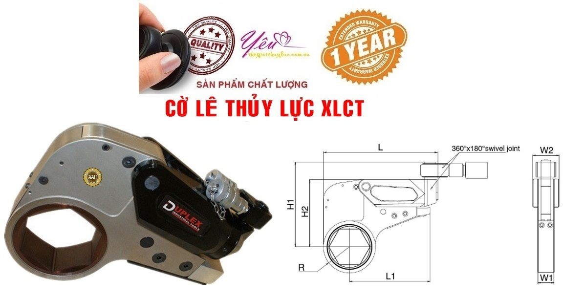Co le thuy luc, co le thuy luc dang trong 1017 - 10452 N.m, Low Profile Hydraulic Torque Wrench, http://thegioithuyluc.com.vn