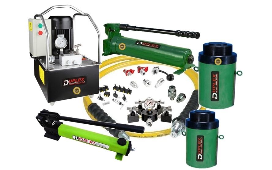 single acting lock nut cylinders, cll-5010, hydraulic cylinder, hydraulic jack, duplex/shanghai, kich thuy luc 1 chieu, bom tay thuy luc, bom dien thuy luc,